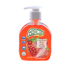 """Антибактериальное жидкое мыло """"AROMAX"""" с ароматом клубники Объем 300 мл."""