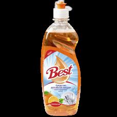 """Средство для мытья посуды """"Best"""" с ароматом Апельсина Объем 500 мл."""